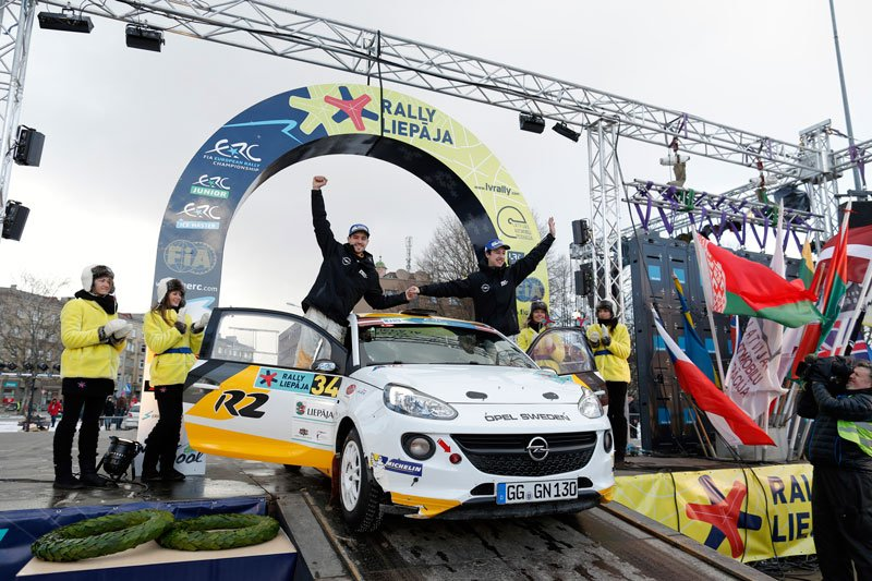Bergkvist Rally Liepaja - Podium