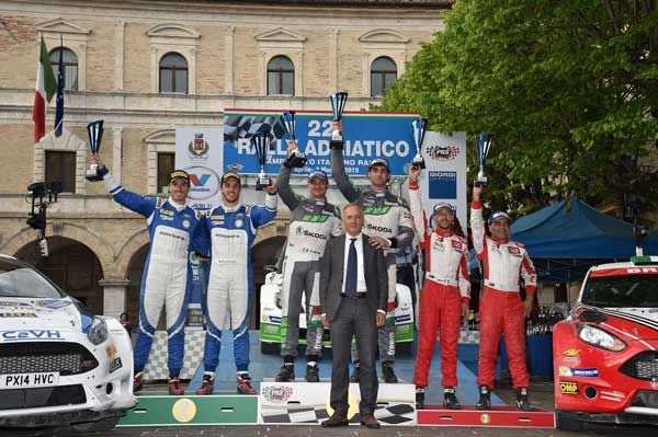 Podio Rally Adriatico 2015