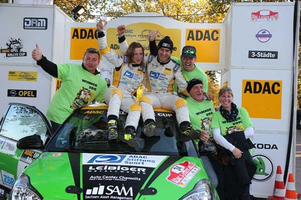 Tannert Thielen - Podium ADAC 3-Städte Rallye