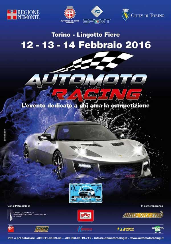 automotoracing 2016 - locandina