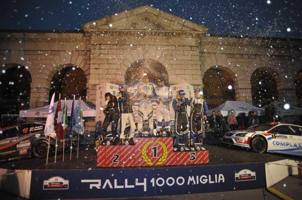 Rally 1000 miglia 2015 - Podio