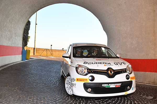 Riccardo Canzian with Renault Twingo