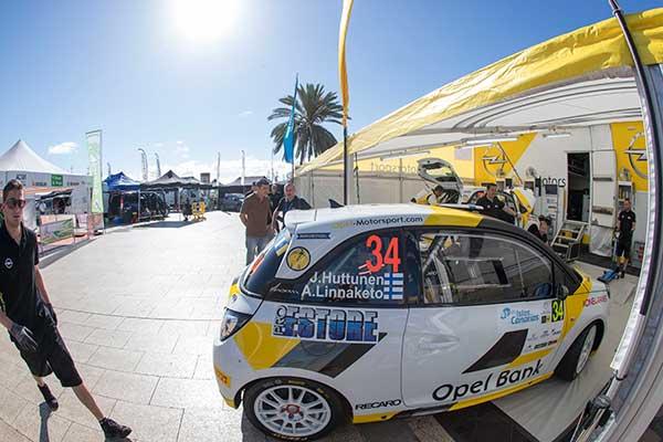 Jari Huttunen on Opel Adam with EVO Corse wheels