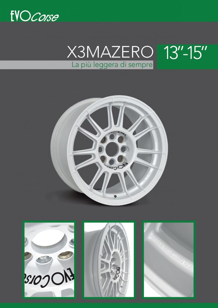 X3MAZero brochure in italiano