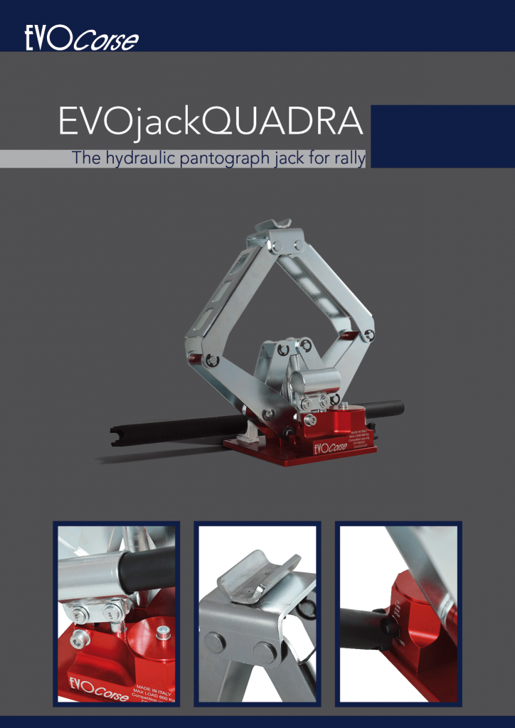 Hydraulic scissor jack EVOjackQuadra Brochure in English