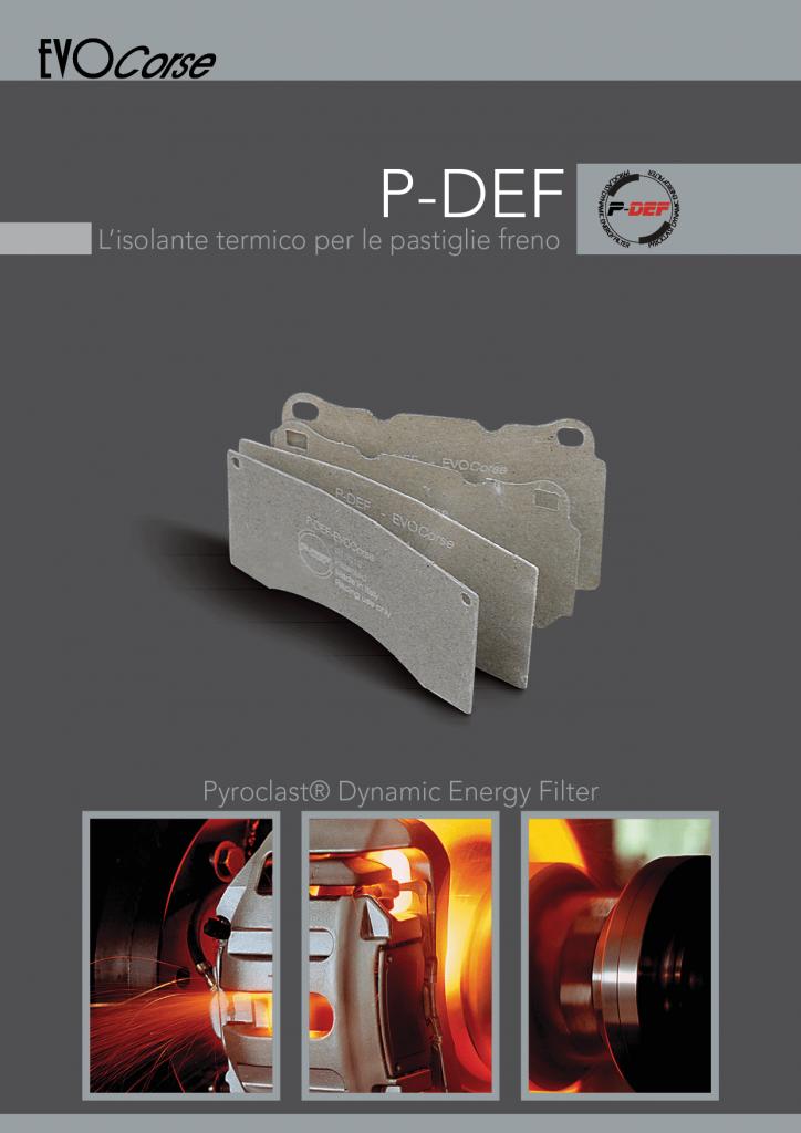 P-DEF - l'isolante termico per le pastiglie freno - brochure in italiano