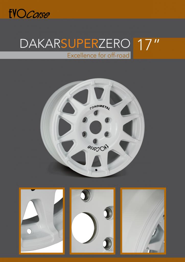 DakarSuperZero 17 brochure cover in english